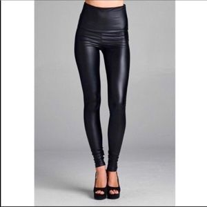 Pants - PLUS AVAILABLE Faux Leather high waisted leggings